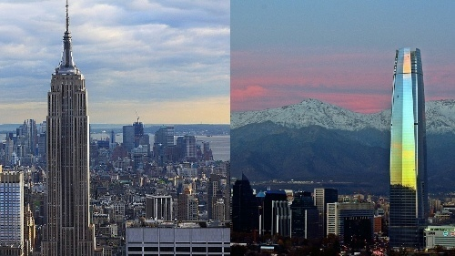 Torre Costanera Y El Empire State Chile Wof